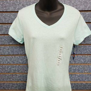Champion Viridian Mint Heather V-Neck Tee